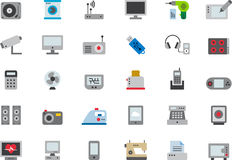 Home appliances and electronic devices icon set Royalty Free Stock Image