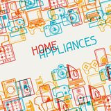 Home appliances and electronics background.  Stock Photo