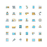Home appliances and electronics devices vector icons Stock Image