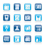 Home appliances and electronics icons Stock Images