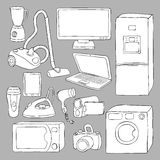 Home appliances and electronics icons. Illustration vector illustration