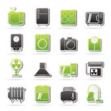 Home appliances and electronics icons. Vector icon set stock illustration