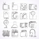 Home appliances and electronics icons Royalty Free Stock Photos