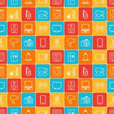 Home appliances and electronics seamless patterns.  Royalty Free Stock Images