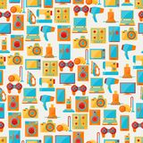 Home appliances and electronics seamless patterns.  Royalty Free Stock Photography