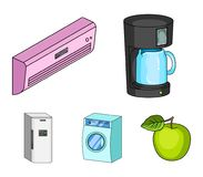 Home appliances and equipment cartoon icons in set collection for design.Modern household appliances vector symbol stock. Illustration Royalty Free Stock Images
