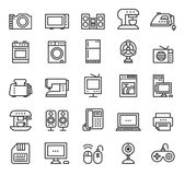 Home appliances and equipment icons vector modern Royalty Free Stock Photography