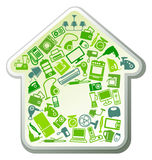 Home appliances for house stock illustration