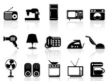 Home appliances icon set Stock Photography