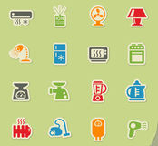 Home appliances icon set Royalty Free Stock Photography
