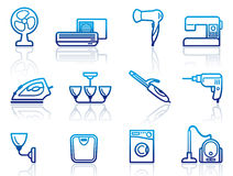 Home appliances icons Stock Photography