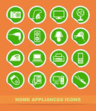 Home appliances icons Stock Image