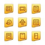 Home appliances icons Stock Photos