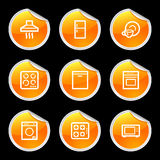 Home appliances icons Stock Photos