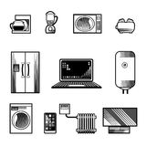 Home Appliances Icons Royalty Free Stock Photo