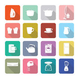Home appliances icons in flat design set 1 Stock Photos