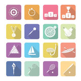 Set of vector sport icons in flat design Royalty Free Stock Photos