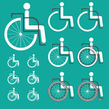 Disabled icon vector Royalty Free Stock Photos