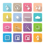 Set of vector photography icons in flat design set 4 Royalty Free Stock Images