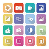 Set of vector photography icons in flat design set 1 Stock Image