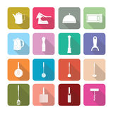Home appliances icons in flat design set 2 Stock Photography
