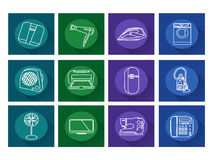 Home appliances icons.Flat vector Royalty Free Stock Image