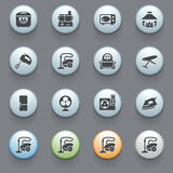Home appliances icons on gray background. Set Royalty Free Stock Photography