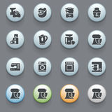 Home appliances icons on gray background. Set Royalty Free Stock Image