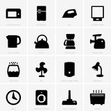Home appliances icons vector illustration