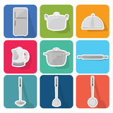 Home appliances icons  set 4 Royalty Free Stock Photo