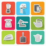 Home appliances icons  set 3 Royalty Free Stock Images