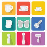 Home appliances icons  set 1 Royalty Free Stock Image