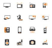 Home appliances icons set Stock Photography