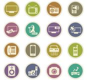 Home appliances icons set Royalty Free Stock Photos