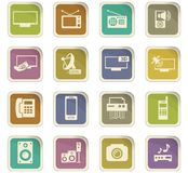 Home appliances icons set Royalty Free Stock Image
