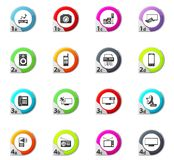 Home appliances icons set Royalty Free Stock Images