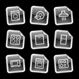 Home appliances icons, sticker Royalty Free Stock Photo