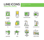 Home Appliances - line design icons set Royalty Free Stock Images