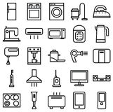 Home Appliances linear icons Stock Photo