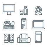 Home appliances modern linear modern concept Royalty Free Stock Images