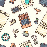 Home appliances seamless pattern Royalty Free Stock Images