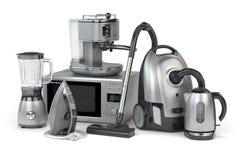 Home appliances. Set of household kitchen technics isolated on w stock illustration