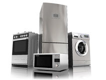 Home appliances. Set of household kitchen technics Royalty Free Stock Images