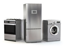 Home appliances. Set of household kitchen technics Stock Image