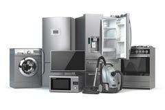 Free Home Appliances. Set Of Household Kitchen Technics Isolated On W Stock Photo - 113449620