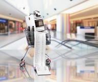 Home appliances in the shopping cart E-commerce or online shoppi Stock Photos