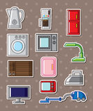 Home appliances stickers Stock Image