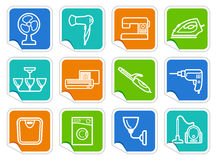 Home appliances stickers Stock Photography