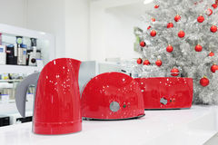 Home appliances store at Christmas Stock Photography