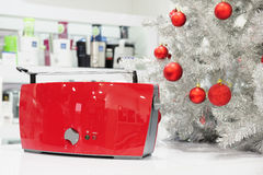 Home appliances store at Christmas Stock Image